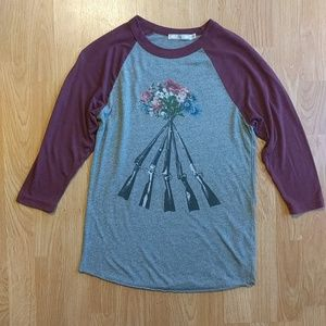 Obey Guns and Flowers Raglan shirt